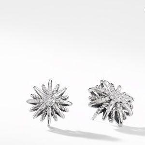 {David Yurman} Starburst Diamond Earrings 16mm